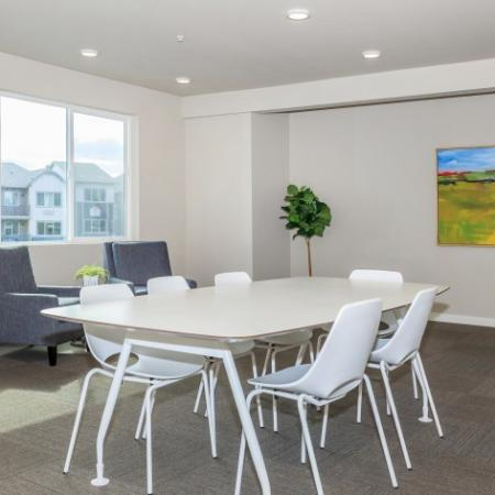 Large, open interior gathering area | Outlook at Pilot Butte Apartments | Apartments Bend Oregon