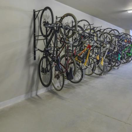 Bicycle Storage Area | Outlook at Pilot Butte Apartments | Bend Oregon Apartments