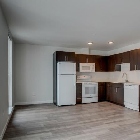 Kitchen - Living Area | HANA Apartments | Apartments Seattle WA