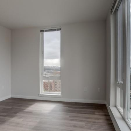 City View from Living Room Windows | HANA Apartments | Seattle Apartments