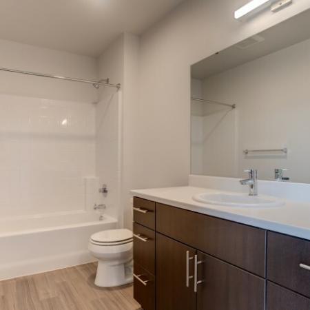 Bathroom Storage | HANA Apartments | Apartments Seattle WA