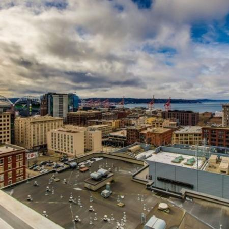 City View from Roof Top | HANA Apartments | Seattle Studio Apartments