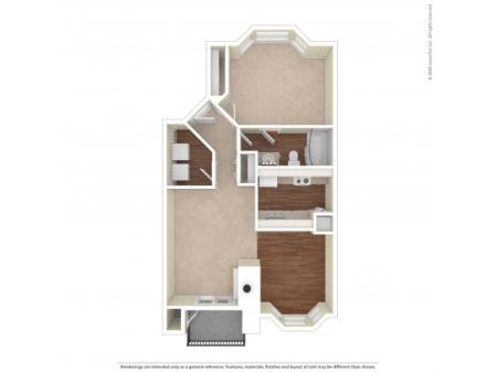 Alderwood One Bedroom One Bath 732 Square Feet  |  Westview Village Apartments