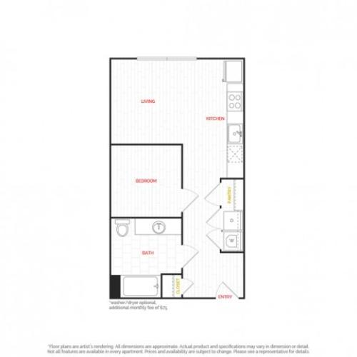 Studio Apartment  |  HANA Apartments  |  Seattle Apartments