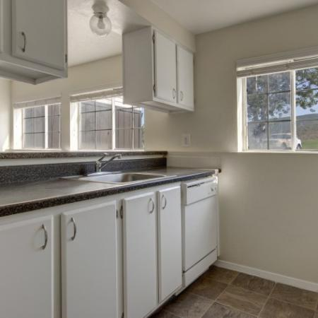Modern Kitchen with White Appliances     Apartments for Rent in Park City UT     Elk Meadows