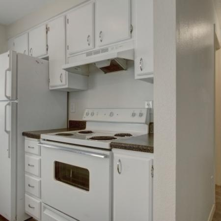 Spacious Kitchen with White Appliances   Apartments for Rent in Park City UT   Elk Meadows