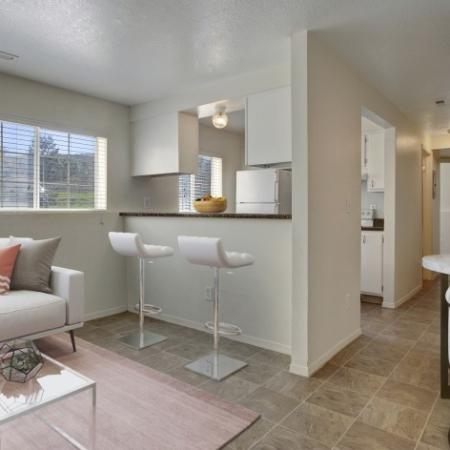 Open Kitchen with White Appliances   Apartments for Rent in Park City UT   Elk Meadows