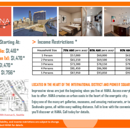 HANA Apartments Income Restrictions