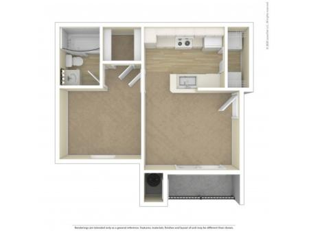 One Bedroom Floor Plan | Apartments For Rent In Commerce City, CO | Village Crest Apartment Homes