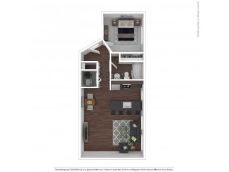 One Bedroom Floor Plan   Apartments For Rent In Park City, UT   Elk Meadows Apartments