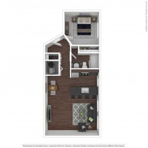 One Bedroom Floor Plan | Apartments For Rent In Park City, UT | Elk Meadows Apartments