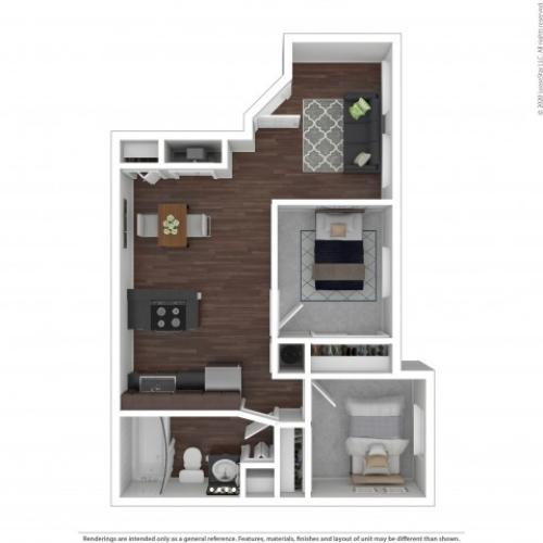 Two Bedroom Floor Plan | Apartments For Rent In Park City, UT | Elk Meadows Apartments