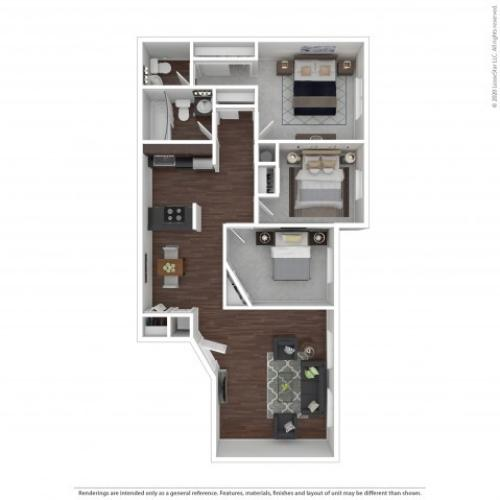 Three Bedroom Floor Plan | Apartments For Rent In Park City, UT | Elk Meadows Apartments