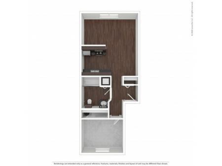 1 Bedroom Floor Plan | Apartments For Rent In Bend, OR| Cedarwest Apartments