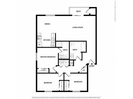 3 Bedroom Floor Plan | Apartments For Rent In Bend, OR| Cedarwest Apartments