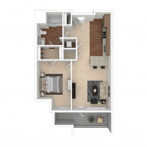 Floor Plan 1 | Crossroads at the Gulch | Apartments In Nashville