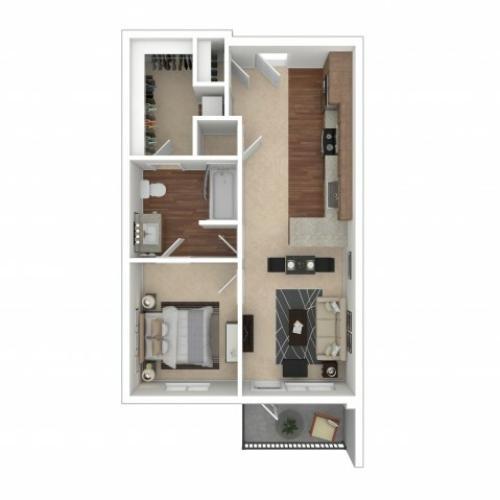 Floor Plan 3 | Crossroads at the Gulch | Apartments In Nashville TN