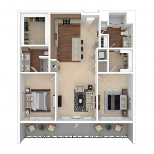 Floor Plan 11 | Crossroads at the Gulch | Apartments In Nashville