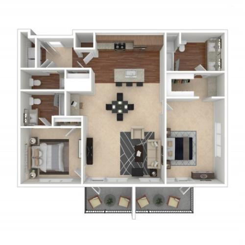 The Erin Penthouse | Floor Plan 13 | Crossroads at the Gulch | Apartments In Nashville TN