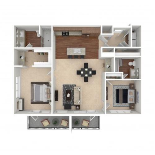 The Virginia Penthouse | Floor Plan | Crossroads at the Gulch | Apartments In Nashville TN