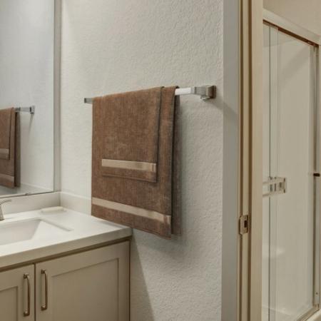 Renovated Primary Bathroom | Westview Village Apartments | Renton Apartments 1 Bedroom