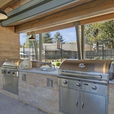 Community BBQ Grills | Apartments For Rent Beaverton | Arbor Creek