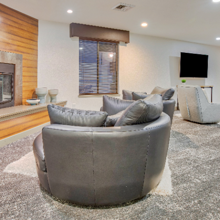 TV Lounge Area and Billards | Apartments For Rent In Kirkland WA | The Emerson