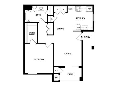 One Bedroom One Bath | Apartments For Rent In Colorado Springs CO | Fountain Springs