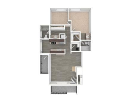 2 Bedroom Floor Plan | Apartments For Rent In Portland, OR | Arbor Creek Apartments