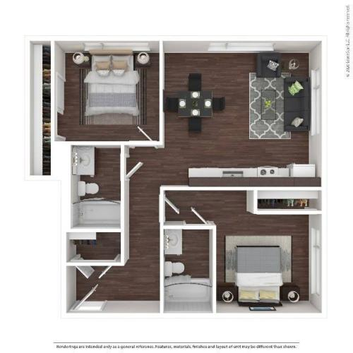 Two Bedroom Apartment | HANA Apartments | Seattle Apartments