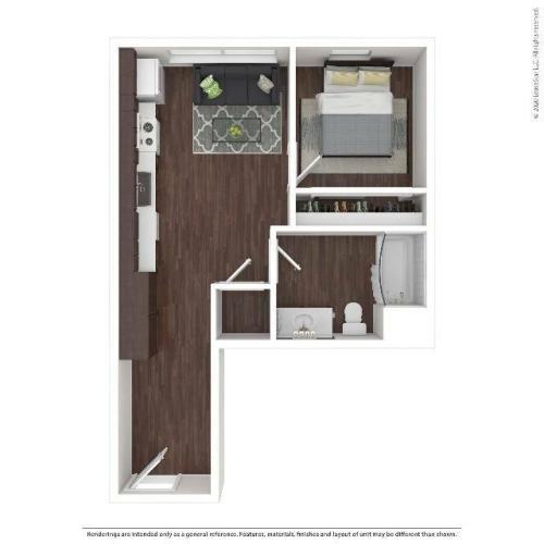 One Bedroom Apartment | HANA Apartments | Seattle Apartments