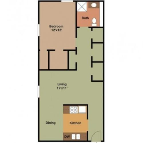 1 Bedroom - 750 Sq