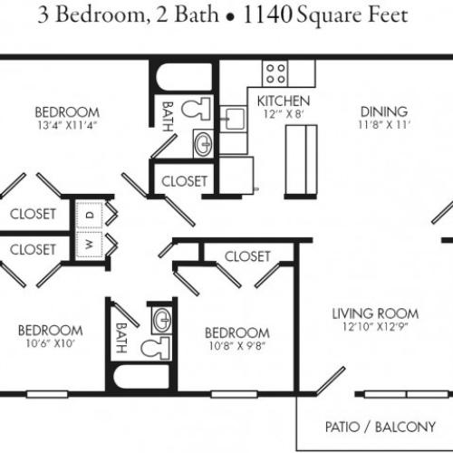 3 Bedroom Apartment Unit. Rent by Bed or Full Unit.