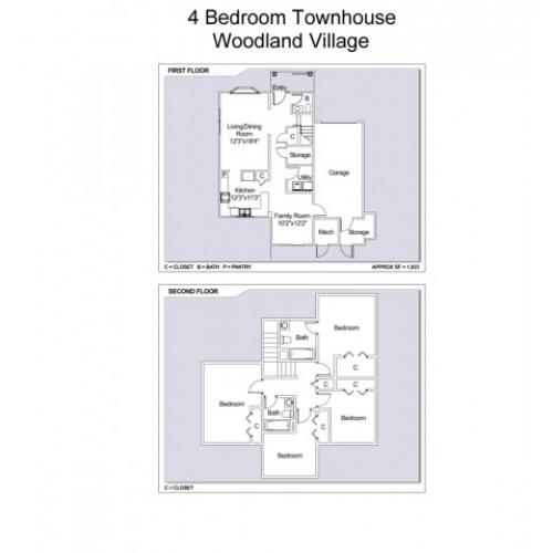 Woodland Village Apartments: 3 Bed / 2.5 Bath Apartment In Brunswick ME