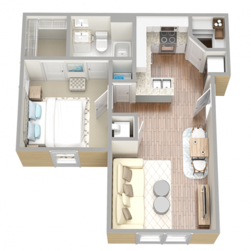 Floor Plan 1 | Fort Myers Florida Apartments | Mosaic at the Forum