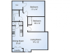 Pine, 2 bedroom 1 bathroom, 885 sqft.