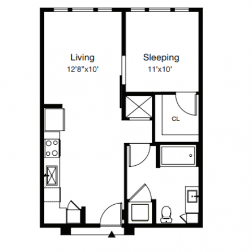 Floor Plan 1 | Luxury Apartments In Sarasota Fl | ARCOS