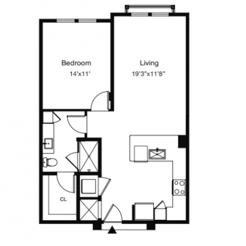 1 Bedroom Floor Plan | Luxury Apartments In Sarasota Fl | ARCOS