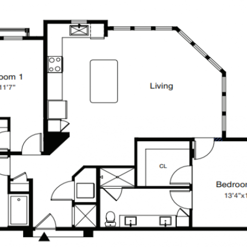 2 Bdrm Floor Plan | Sarasota Apartments | ARCOS