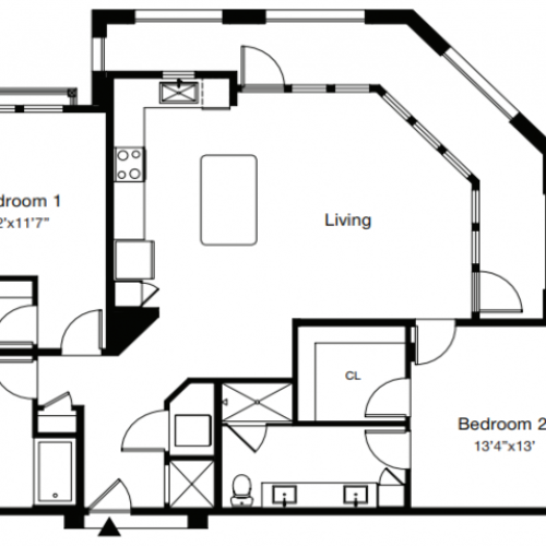 Floor Plan 4 | Sarasota Apartments | ARCOS