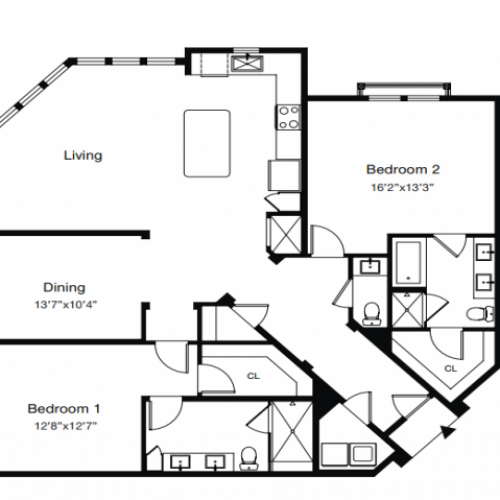 Floor Plan 3 | Luxury Apartments Sarasota Fl | ARCOS