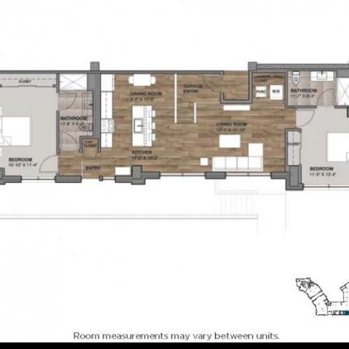Two Bedroom: Unit A