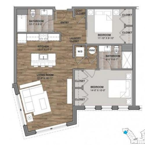 Two Bedroom - Unit D