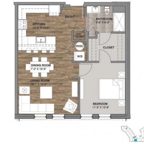 One Bedroom - Unit E