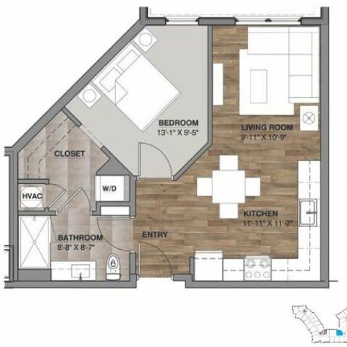 One Bedroom - Unit F