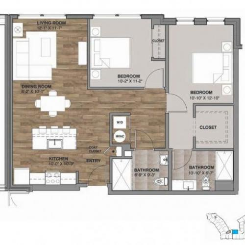 Two Bedroom - Unit G