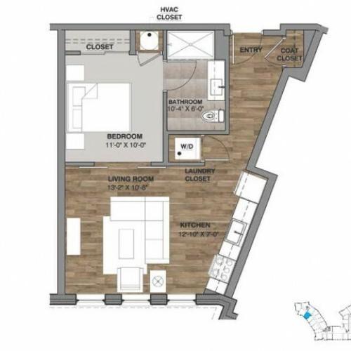 One Bedroom - Unit K