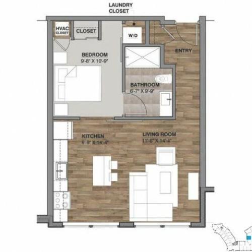 One Bedroom - Unit M