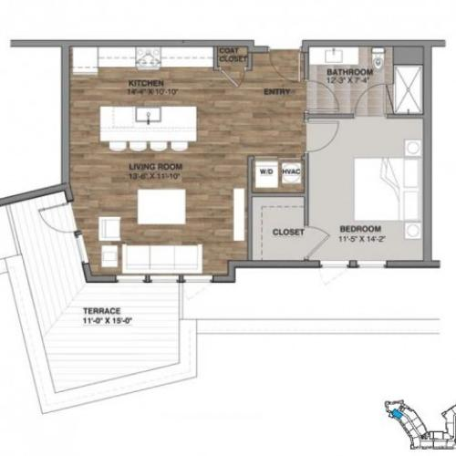 One Bedroom - Penthouse A