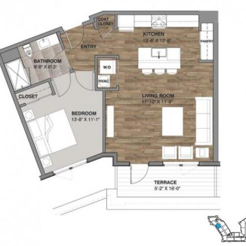 One Bedroom - Penthouse B